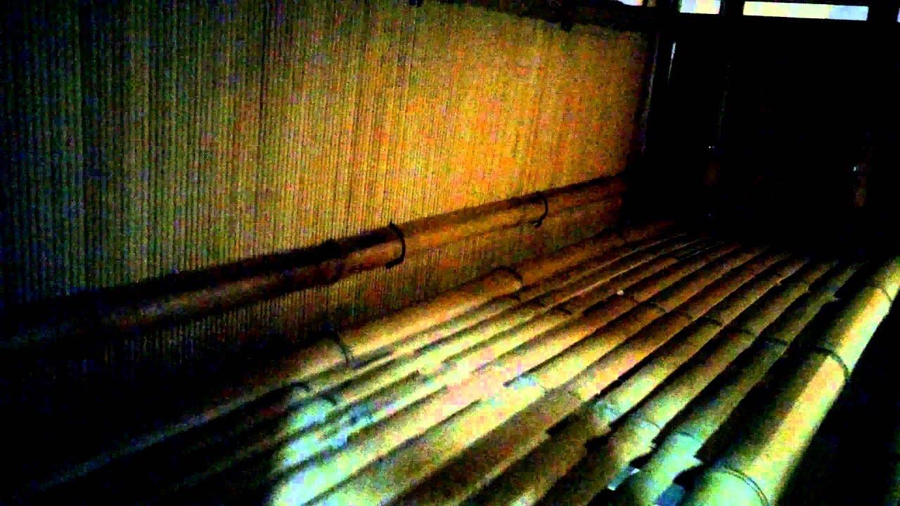 Hawaiian Tiki Hut Three Bar Stools Bamboo Outdoor Furniture