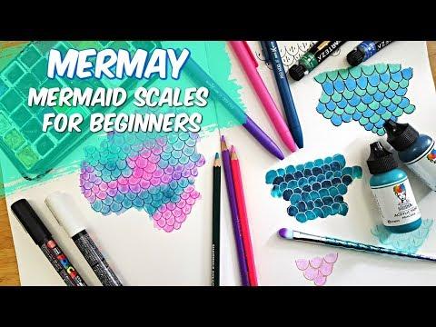 Easy Mermaid Scale Tutorial : MERMAY