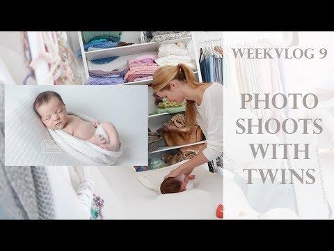 Weekvlog 9 - Photoshoots with Twins (Cake Smash), Newborn & Baby Photography
