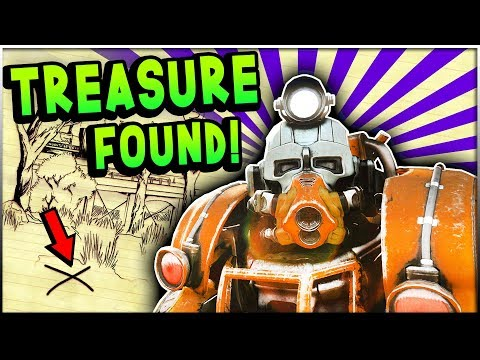 Fallout 76 - TREASURE HUNTING & Amazing Finds! The Dragon & More! (Fallout 76 Treasure Map Guide)