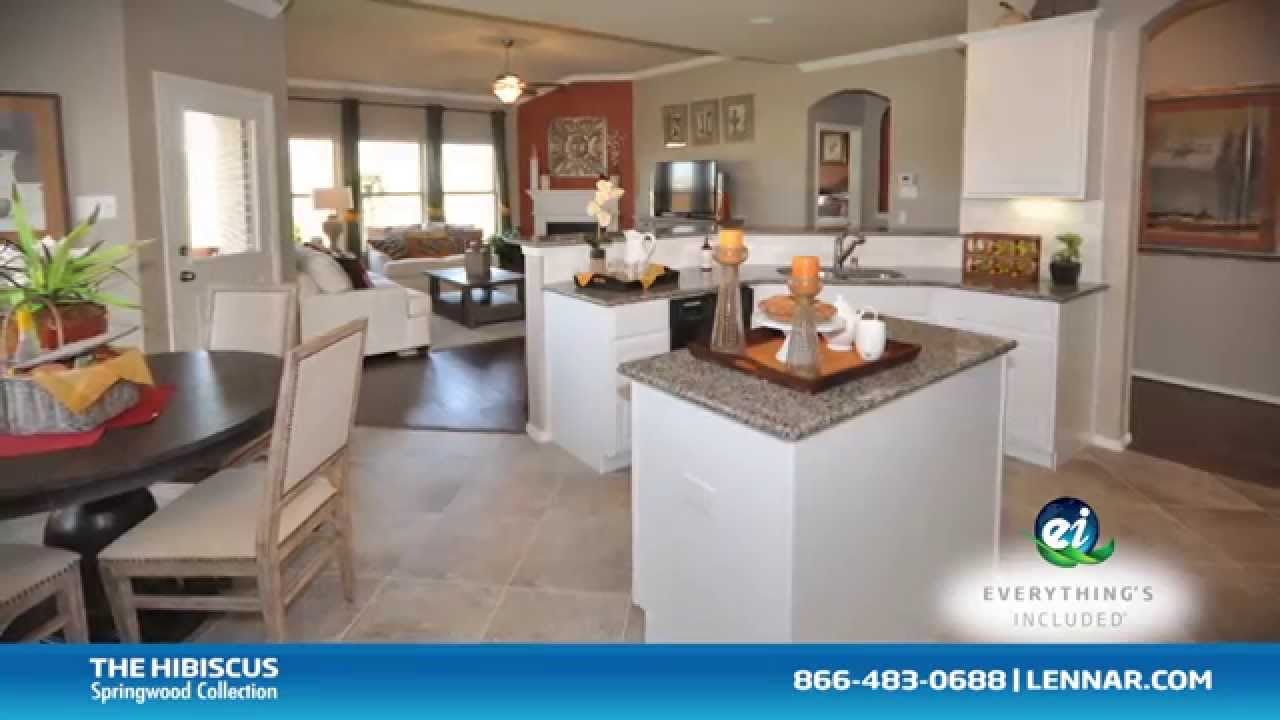 The Hibiscus Lennar Dallas New Home Tour Youtube