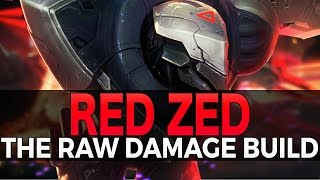 RED ZED BUILD - Raw Damage + Lifesteal - League of Legends
