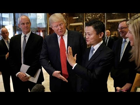 Alibaba's Jack Ma talks with Donald Trump about E-commerce