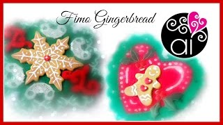 Diy Christmas Gingerbread | Biscotti Di Natale Allo Zenzero | Polymer Clay Tutorial