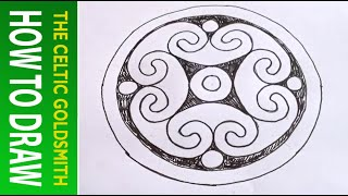 How To Draw Celtic Patterns 98 - Spiral Celtic Cross/mandala 6of8