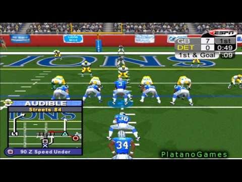 NFL 2012 Week 11 - Green Bay Packers (6-3) vs Detroit Lions (4-5) - 1st Half - NFL 2K5 - HD