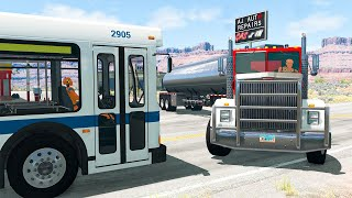Bus and Truck Crashes #2 - BeamNG Drive | SmashChan
