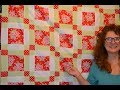 EPISODE 50 - One block quilt/mini tutorial on chain piecing plus Wednesday morning musings...