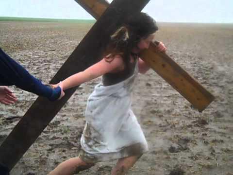 Chemain de la croix. station 4