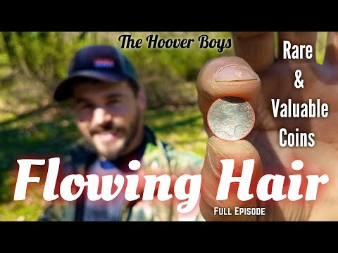Metal detecting rare valuable coins & gold #124 Flowing Hair