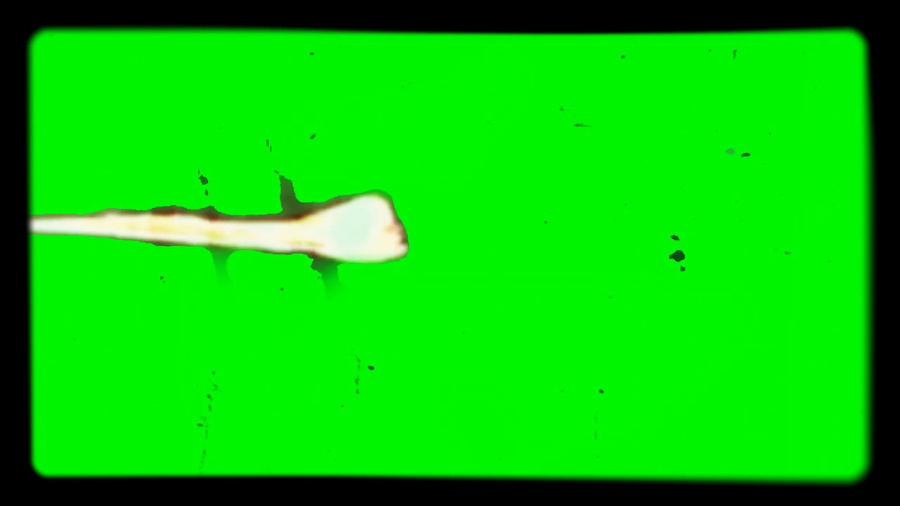 Fire on green screen