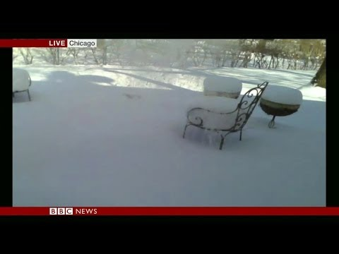 WATCH AS HOT WATER FREEZES IN MIDAIR - BBC NEWS
