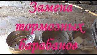 Замена тормозных барабанов Nissan Almera