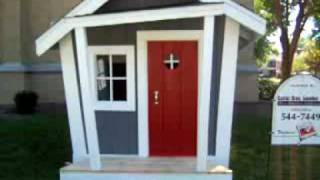 Custom Built Playhouse Raffle At Blessed Sacrament Springfield Il