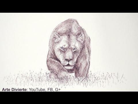 Dibujando felinos:cómo dibujar una leona con marcador -Arte Divierte