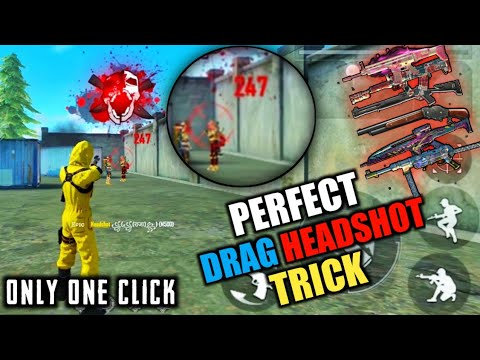 Perfect drag headshot trick in only one click free fire auto headshot pro tips and tricks