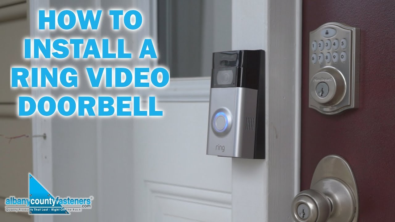 Installing a Ring Video Doorbell | DIY Home Improvement on
