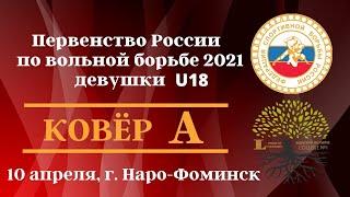 Первенство России по вольной борьбе 2021 Девушки U18