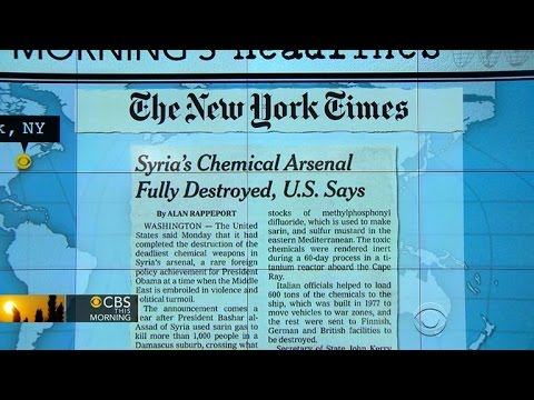 Headlines at 7:30: U.S. destroys all of Syria's most dangerous chemical weapons