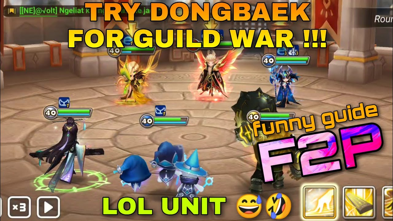 TRY DONGBAEK THE LIGHT STRING MASTER FOR GVG SUMMONERS WAR