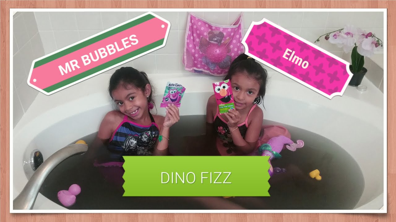 Colorful Popping And Surprising Bath Time 🛁elmo Fizzy Tub