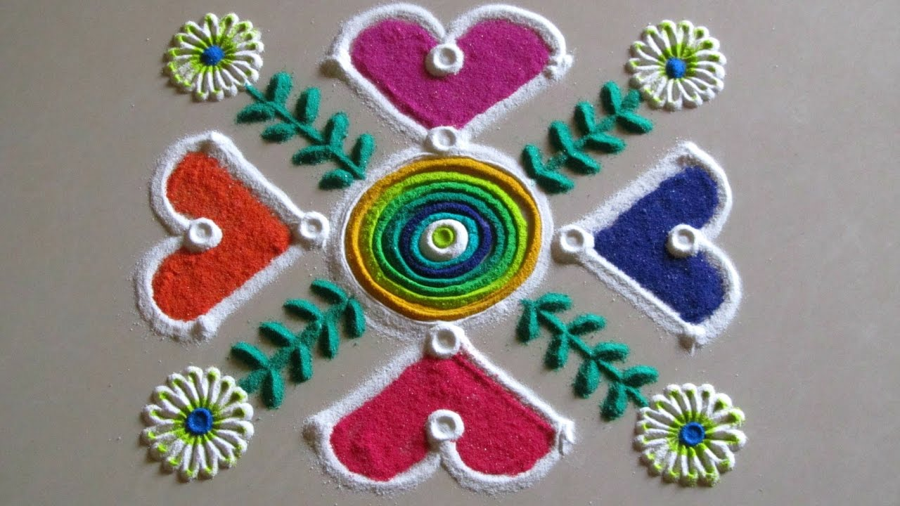 Simple And Easy Rangoli Design For Beginners By Poonam Borkar