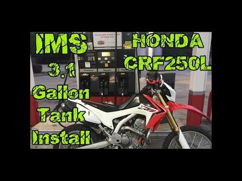 IMS 3.1 Gallon Gas Tank Install Honda CRF250L CRFs Only !