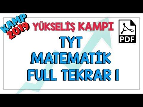 TYT Matematik  Tekrar 1 | Kamp2019 #yükselişkampı