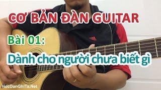Bài 1: Đàn guitar và những điều cơ bản nhất - Cơ bản cho người mới học đàn guitar