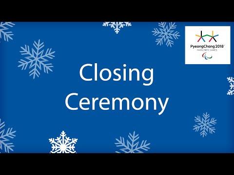 Closing Ceremony   PyeongChang2018 Paralympic Winter Games …