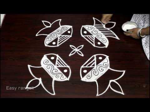 sankranti bhogi kundalu muggulu || pongal kolam designs || easy rangoli designs for pongal