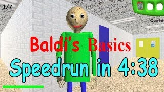 Baldi's Basics Any% Speedrun in 4:38.2