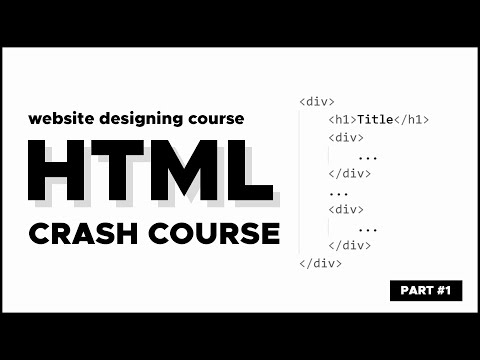 Create A Website Design Using HTML & CSS - Part #1 | HTML Crash Course | Malayalam