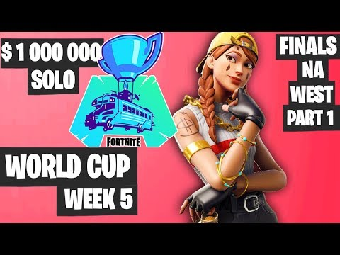 Fortnite World Cup WEEK 5 Highlights - Final Na West SOLO Part 1 [Fortnite Tournament 2019]