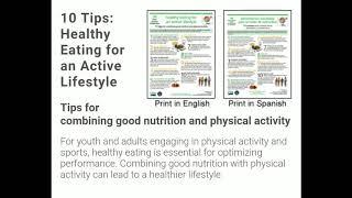 Top 10 healthy tips