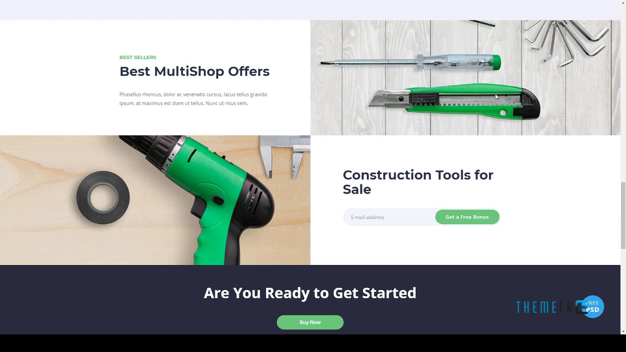 MultiShop - Universal HTML Shop Template | Free Template Sand - YouTube