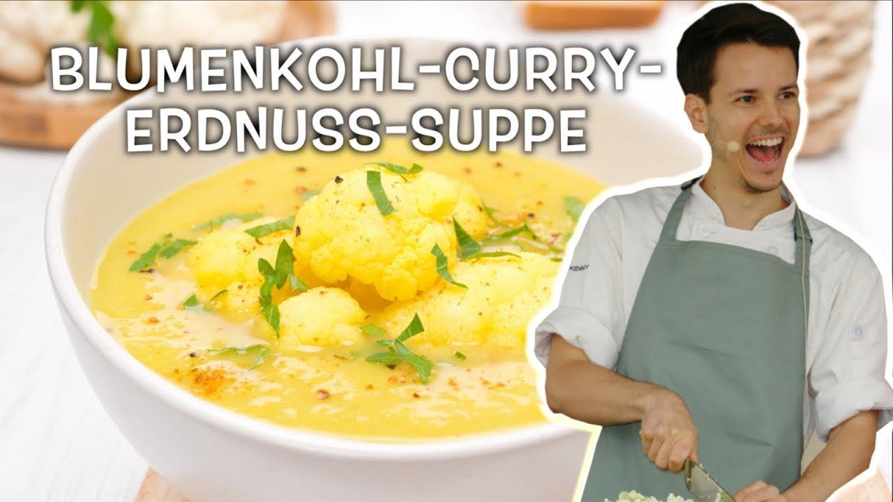 Vegane Blumenkohl-Erdnuss-Cremesuppe • Ernährungswissenschaftlich optimiert