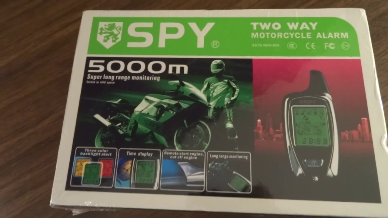 unboxing 2 way motorcycle alarm spy 5000m youtube. Black Bedroom Furniture Sets. Home Design Ideas