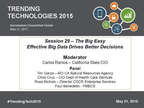 2015 TT Session 29: Effective Big Data Drives Better Decisions