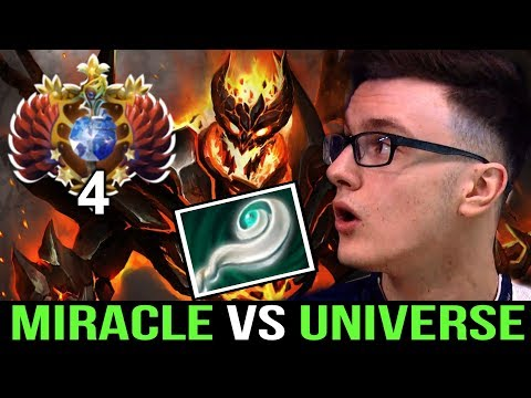 MIRACLE- Shadow Fiend vs Universe Super Offlane -Beautiful Fight Dota2