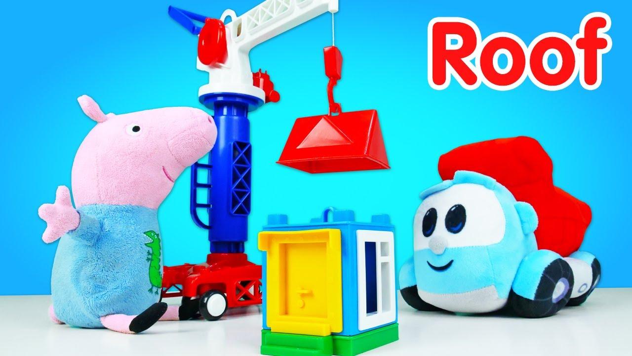 Léo, o caminhão, ensina palavras em inglês! Educação infantil com Peppa Pig, brinquedos e jogos