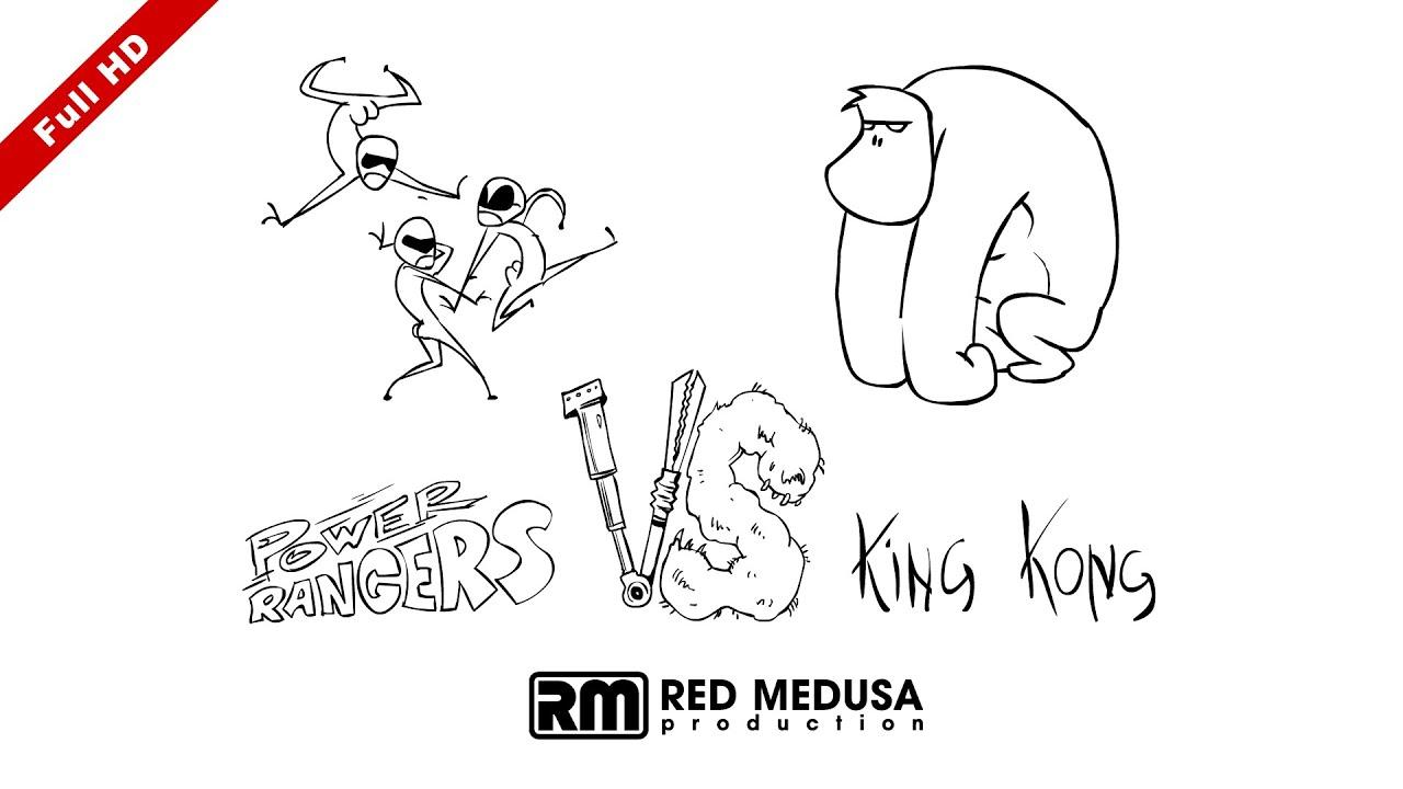 Animated Versus - Power Rangers VS King Kong FullHD