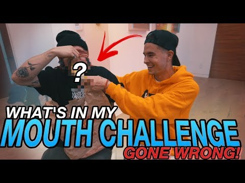 WHAT'S IN MY MOUTH CHALLENGE (ENDS HORRIBLY)