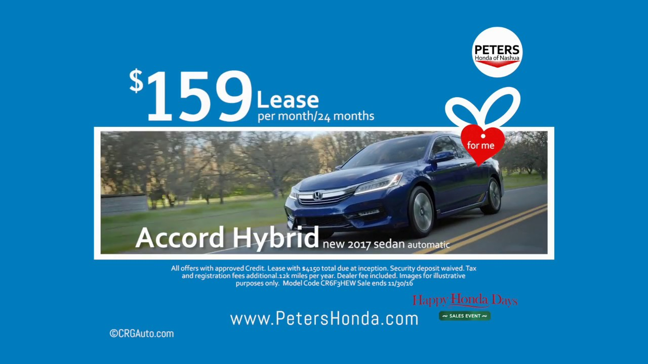 New Honda Accord Hybrid Black Friday Lease Deal Nashua Hampshire