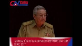 Creación de las empresas privadas en Cuba.