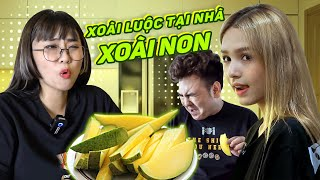 Young mango to eat mango shakes the armpits sour! Misthy discovers Xemesis || FOOD CHALLENGE
