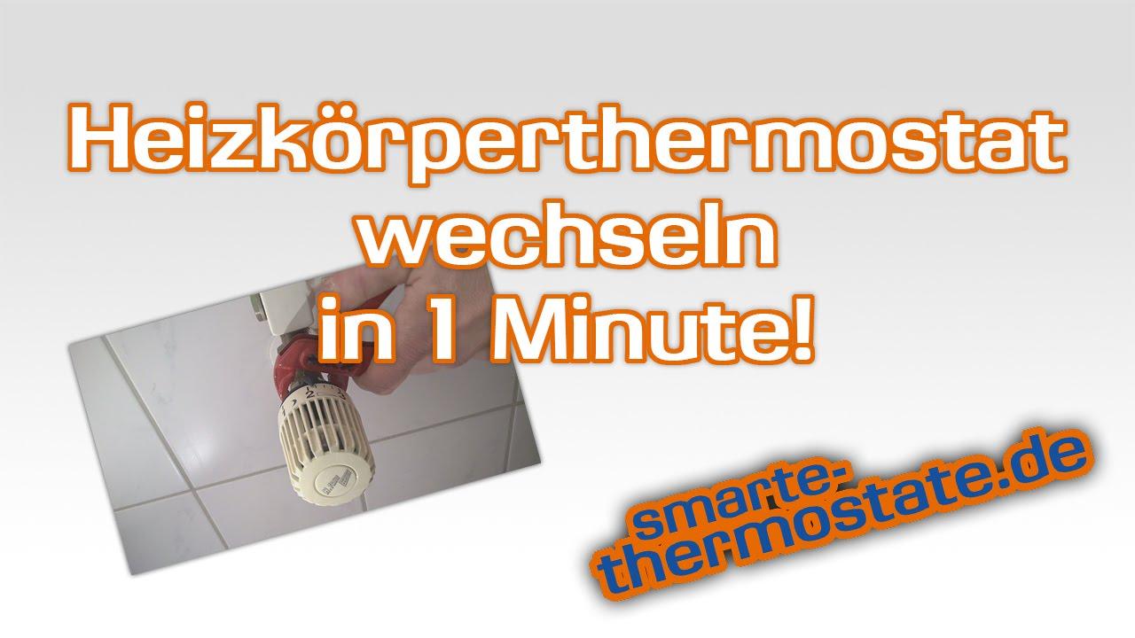 heizk rperthermostat richtig wechseln ohne wasser ablassen thermostat wechseln youtube. Black Bedroom Furniture Sets. Home Design Ideas