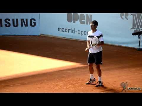Tommy Robredo Practice Madrid Master 2014