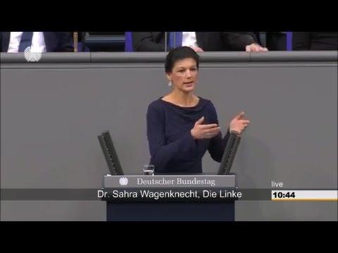 Gerechtigkeit ...Ja, das lieben wir an Frau Dr. Sahra Wagenknecht   Bundestag 02/2017