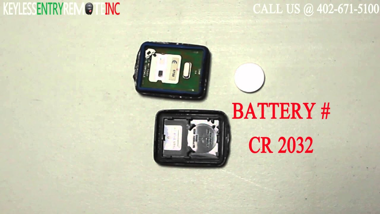 How To Replace Mazda 626 Key Fob Battery 1998 1999 2000 2001 2002